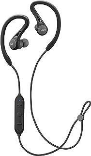JVC - Auriculares deportivos inalámbricos, Bluetooth 5.0, ajuste de movimiento pivotante y deslizante, a prueba de sudor IPX2, micrófono y mando a distancia (negro)