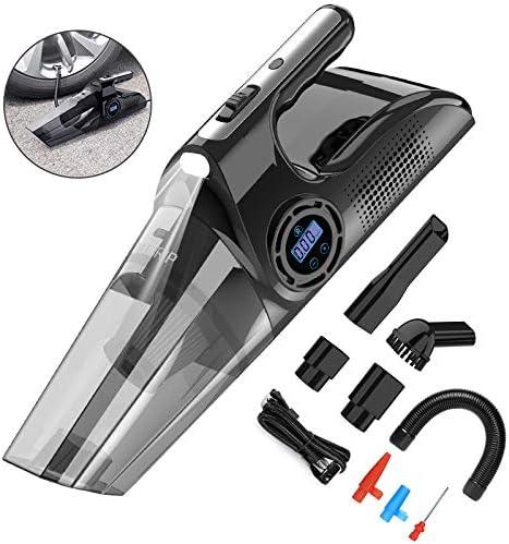 YANTU Car Vacuum Cleaner 4500PA Cordless 4 in 1 Handheld Vacuum Cleaner with Car Inflator LED product image