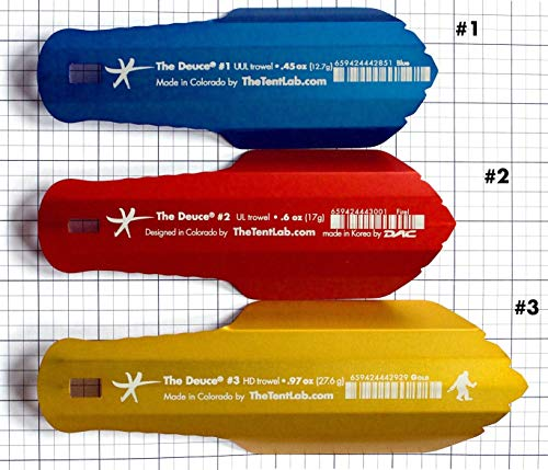 New Improved Deuce(R) Ultralight Backpacking Potty Trowel - Now in 3 Sizes (madeinUS–Black, #3)