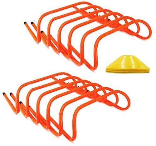 ASENVER 12 Hurdles Training Speed Agility Training Durable with 10 Marker Cone