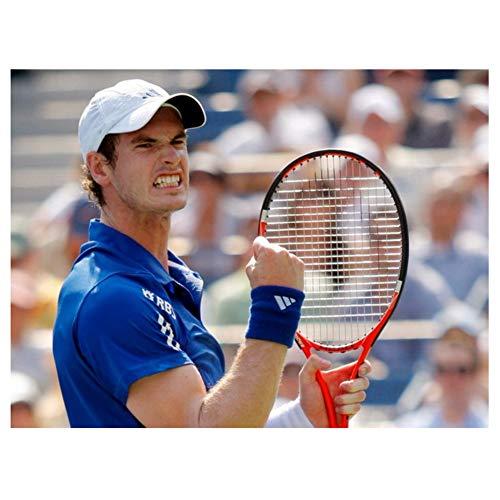 nr Andy Murray Tennis ATP Sport Poster Licht Leinwand Dekoration Druck auf Leinwand 50x70cm Rahmenlos