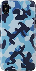 GOLINK Case for iPhone Xs MAX, Matte Finish Camo Series Slim-Fit Ultra-Thin Anti-Scratch Shock Proof Dust Proof Anti-Finger Print TPU Gel Case for iPhone Xs Max 6.5