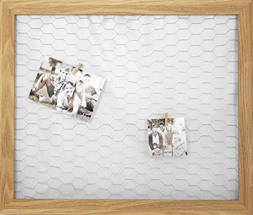 Spetebo metalen rooster fotolijst + 50 houten knijpers - 66 x 56 cm - fotolijst fotohouder