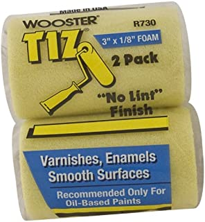 Wooster Brush R730-3 Tiz Foam Roller Cover, 1/8-Inch Nap, 2-Pack, 3-Inch