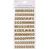 Simply Creative Aufkleber Alphabet und Zahlen in Kork-Optik, Blockschrift, Mehrfarbig
