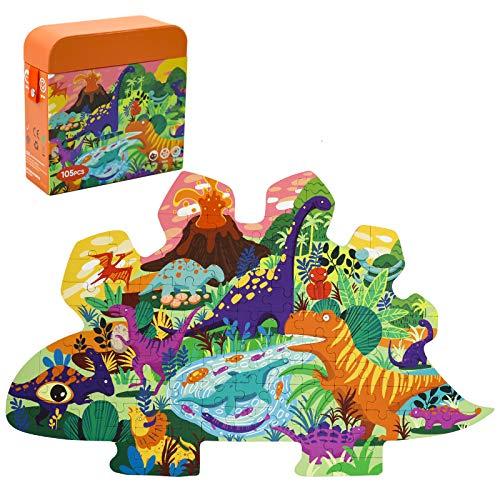 PHYLES Rompecabezas infantil de dinosaurio para niños, juego de habilidad, juguetes educativos, juego de rompecabezas para niños de 3, 4, 5 años de edad