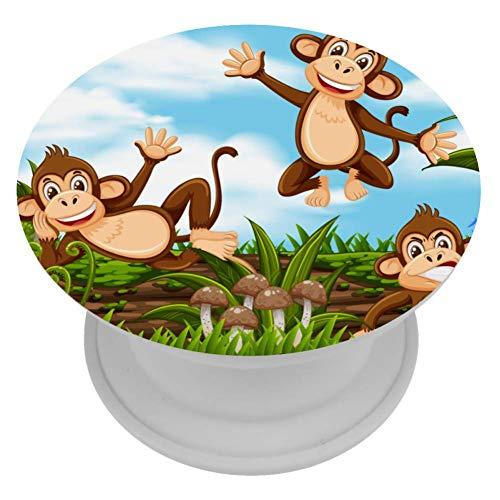 Yuzheng Support de Bague de téléphone Portable Finger Stand Phone Grip pour Femmes Paradise Monkeys Supporto per Telefono per Smartphone e Tablet 4cm