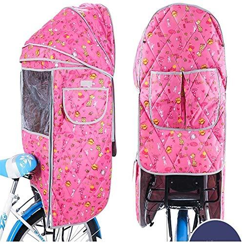 Kinder Fahrradsitz Zubehör Regenschutz, Fahrrad Kinder Rücksitze Großes Verdeck, Universal Fahrradsitz Wasserdicht Sonnenschutzbezug, Transparent PVC Regenschutz, Four Seasons Universal ( Color : B )