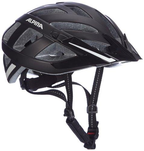 ALPINA PANOMA CITY Fahrradhelm, Unisex– Erwachsene, black matt reflectiv, 56-59