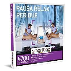 Idea Regalo - smartbox - Cofanetto Regalo Coppia - Pausa Relax per Due - Idee Regalo Originale - 1 Esperienza Benessere per 2 Persone