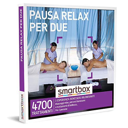 smartbox - Cofanetto Regalo - Pausa Relax per Due - Idee Regalo - 1 Esperienza Benessere per 2 Persone