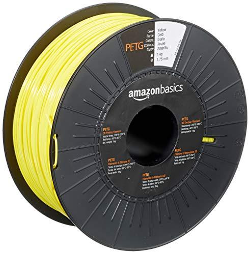 AmazonBasics - Filamento per stampanti 3D, in PETG, 1,75mm, giallo, 1 kg per bobina