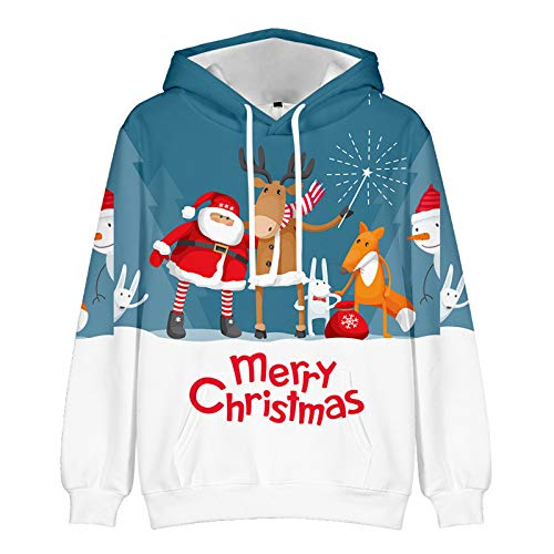 Mr.BaoLong&Miss.GO Amantes del Otoño E Invierno Suéter Navideño Sudadera Que Toca La Camisa Amantes De La Ropa Exterior Navideña Sudaderas con Capucha Ropa para Padres E Hijos