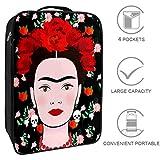 Bennigiry Frida Kahlo con orecchini messicani, teschi, borsa da viaggio, organizer portati...