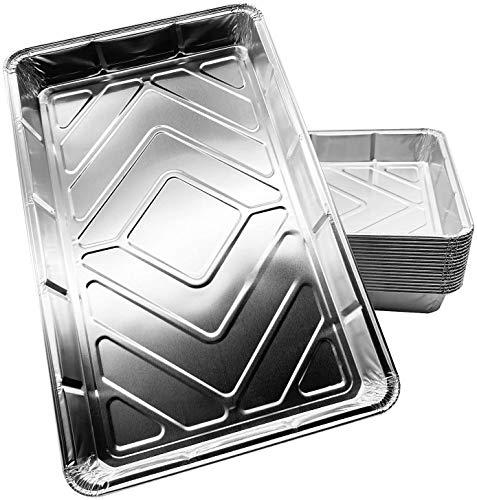 Delahunt Einweg-Backbleche, Aluminiumfolie, große Behälter zum Backen, Braten, Einfrieren, Aufbewahren, Kochen, Grillen, Brownies, Catering Supplies | 32 cm x 20 cm x 3,3 cm (20 Stück)