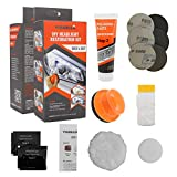 Visbella DIY Vehicle Headlight Restoration Kit, Headlight Restore Cleaner with UV Protection (Manual, Handheld)