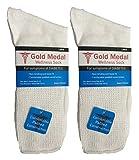 Gold Medal Diabetic White Crew Socks 6 Pack