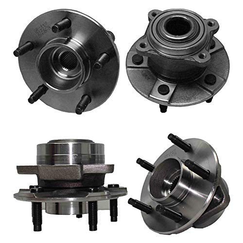 Detroit Axle - Front and Rear Wheel Bearing & Hubs Kit for 2002 2003 2004 2005 2006 2007 Saturn VUE/ 2005 Chevy Equinox/ 2006 Pontiac Torrent Non-ABS
