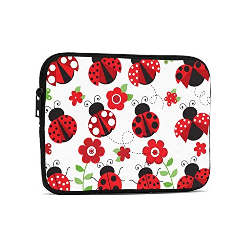 Beautiful Ladybug Tablet Bag Durable Laptop Bag Tablet Sleeve Case for Ipad 9.7 Inch