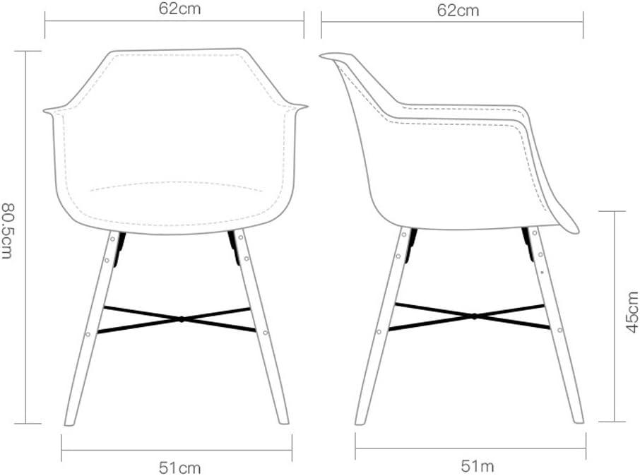 XXT Chaise de bureau moderne et minimaliste en bois massif Fauteuil durable (couleur : E) C