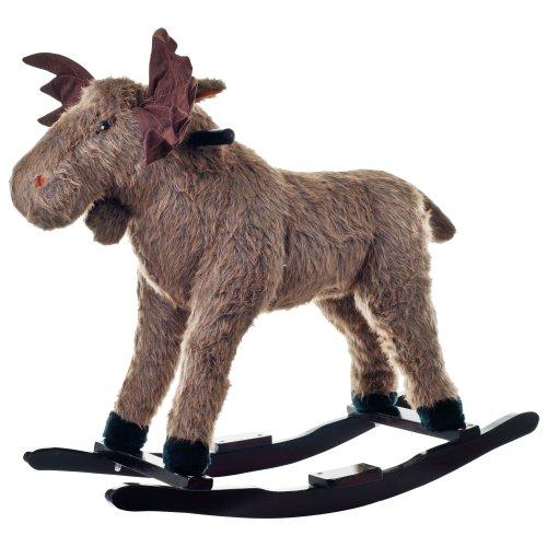 Happy Trails: Plush Rocking Max Moose, Brown, 30.5u0022 Lx20.5 Wx28.5 H (80-BC6002)