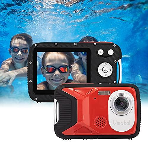 GDC8026 waterdichte digitale camera / 16 MP / 1080P FHD / 2,8″ TFT LCD-scherm/onderwatercamera voor kinderen/tieners/studenten/beginners/ouderen (Rood)