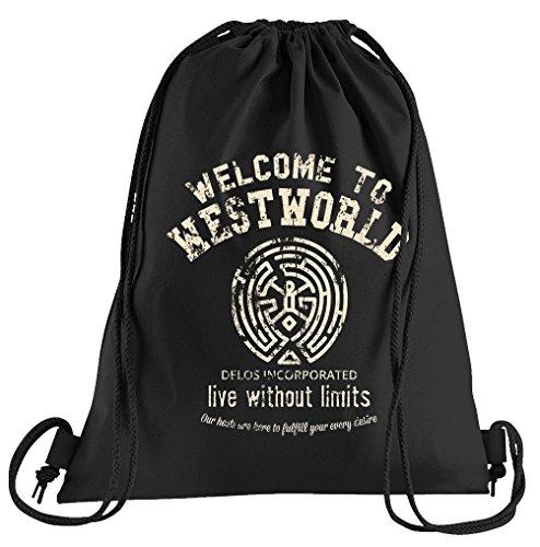 T-Shirt People Welcome to Westworld Sac de Sport imprimé avec Cordon Taille Unique Noir