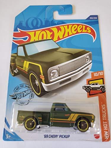 Hot Wheels 2020 Hw Hot Trucks '69 Chevy Pickup, Green 202/250 New Mexico