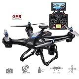Cewaal X183 Drone avec 170°Grand-angle 5.8 Ghz WIFI Caméra et GPS Retour à la...
