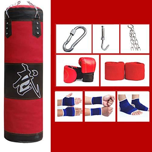 FDY Saco De Arena Boxeo Hueco Guantes Gancho Cadena Colgante Muay Thai Kárate Taekwondo Artes Marciales para Profesionales Adultos Y Principiantes,120cm