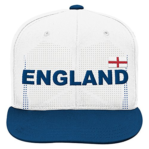 World Cup Soccer England Mens -Jersey Hook Flag Snapback, White, One Size