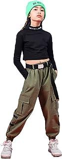 Ropa de Baile Hip Hop para niñas Blusas Cortadas para niños y Pantalones Cargo Conjunto de Ropa Elegante