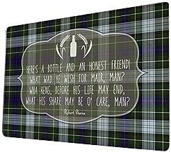 Artylicious Robert Burns Poem Sign - A Bottle and a Friend - Scottish Tartan A4 Retro Metal Sign