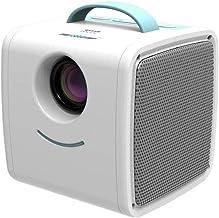 JCCOZ Mini Proyector portátil Incorporado Dos Altavoces de Cine en casa de la Ayuda HD 1080P HDMI/USB/VGA/AV/Micro SD Incluyendo Bolsa (Color : Blue)
