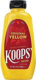 Koops Mustard Original Yellow, 12 Oz (Pack Of 12)