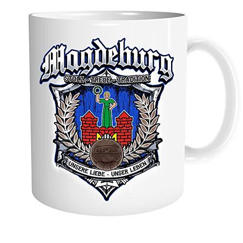 Uglyshirt89 Für Immer Magdeburg Tasse | Kaffeetasse Teetasse Geschenk Sport Fussball Stadt Fan