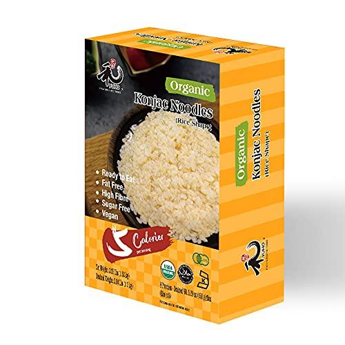 YUHO Organic Shirataki Konjac Pasta 8 Pack Inside, Vegan, Low Calorie Food, Gluten Free, Fat Free, Keto Friendly, Zero Carbs, Healthy Diet Pasta 53.61 Oz, 8 Rice
