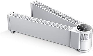 lcc Calentador convector de zócalo eléctrico Plegable, termostato Inteligente, Temporizador Digital para hogar/Invernadero - Radiador Plegable Slimline, Control Remoto, 3000W