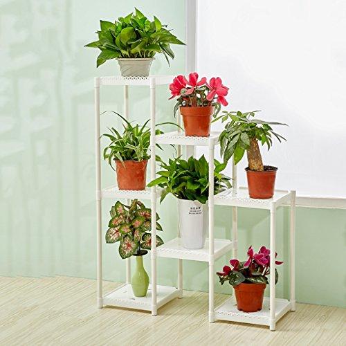 Fu Man Li Trading Company Ensemble de fleurs multi-étages combinaison créative salon balcon étagère simple intérieure A+