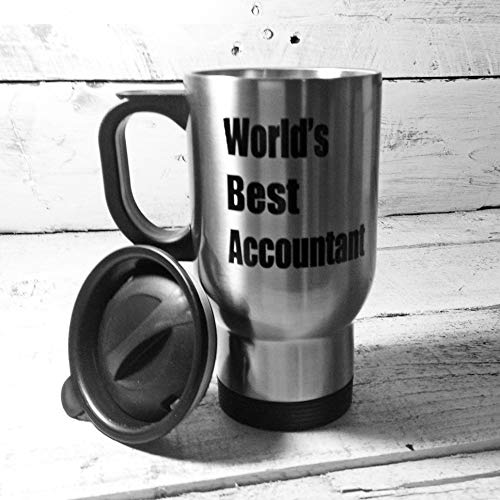 Worlds Best Accountant 14oz Travel Mug Thermal flask keep warm Storage Thermoses Steel Insulated Tumbler Outdoor Recreation hiking Sports Water Bottles