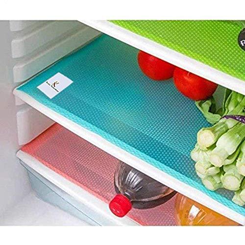 Kuber Industries Refrigerator Drawer Mats/Fridge Mats/Multi Purpose Mats Set of 6 Pcs (Multi Plastic)