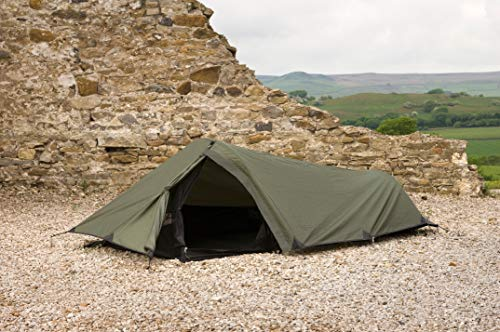 Snugpak Ionosphere 1 Person Tent, 94 inches x 35 inches x 28 inches, Waterproof Polyester and Nylon, Olive