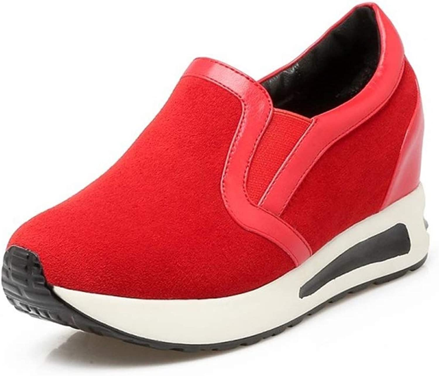 Spring Casual shoes Woman Fashion Platform Comfort shoes Female Walking Sneakers Hidden Wedges Heels