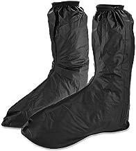 Eforstore Motorcycle Mens Waterproof Footwear Protector Rain Boot Shoes Long Cover Zipper Black