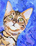 "Bengal Cat Art Print | Bengal Cat Gifts | From Original Watercolor Painting by Ron Krajewski | Hand Signed in 8x10"" and 11x14"" Sizes"