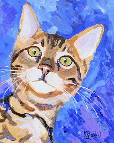 Bengal Cat Art Print |...