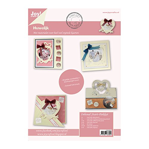 Vreugde!Crafts Complete startset voor het maken van kaarten bruiloft, papier, metaal, veelkleurig, 30,5 x 30,5 x 1,4 cm