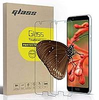 AQUOS Sense3 ガラスフイルム 2枚セット 全面保護フィルム 液晶強化ガラス 日本旭硝子製 硬度9H 指紋防止 簡単貼り付け (透明)