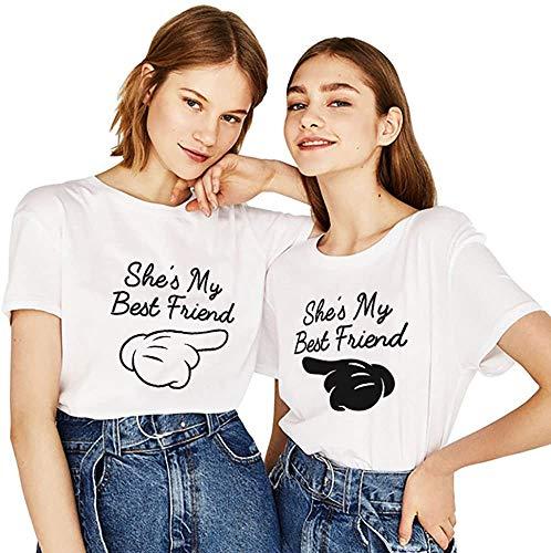 BFF Best Friends Mujer Niñas T-Shirt...