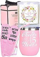 45歳の誕生日ギフト 女性用 45歳の誕生日 45歳の誕生日のタンブラー 45歳の誕生日のデコレーション 45歳の女性へのギフト 45歳になる女性への誕生日プレゼントアイデア